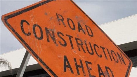 Construction of two-way traffic lane begins on West Michigan Street