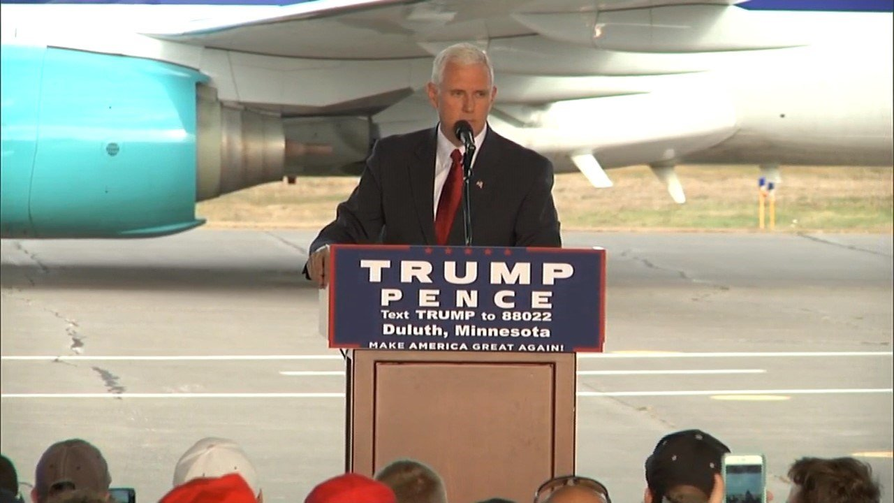 Vice President Mike Pence is set to make two stops while in Duluth on Wednesday.