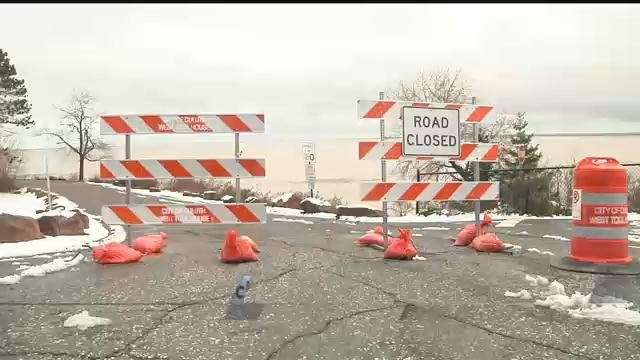 Brighton Beach Rd. closed due to storm damage