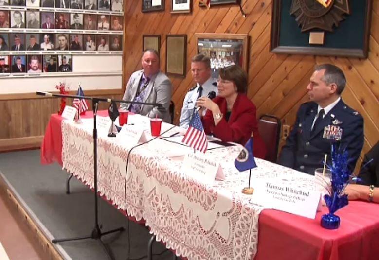 Sen. Klobuchar Meets With Veterans
