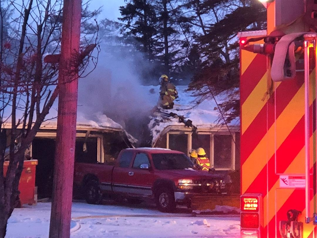 Proctor home damaged in morning fire
