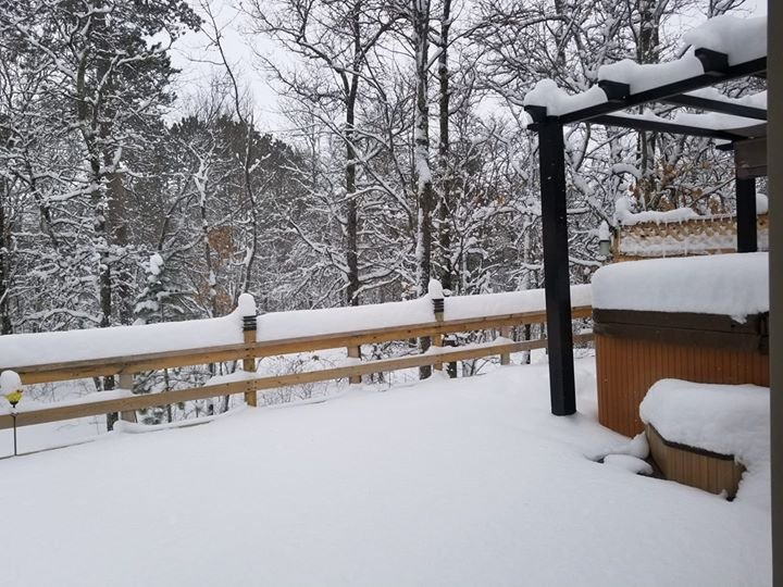 © According to Tiffany Mallory, 13 inches of snow fell in Barnes, WI.
