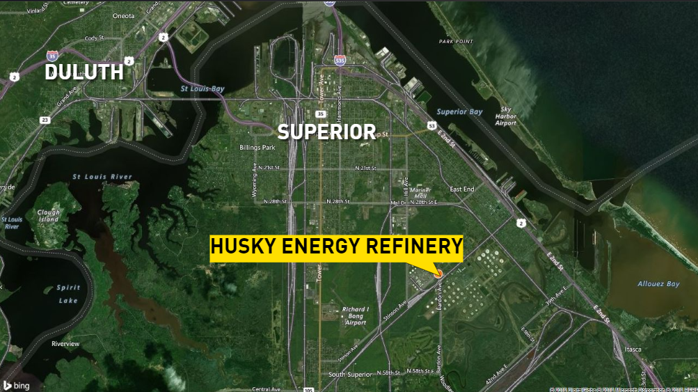 Evacuation area expands near Wisconsin refinery